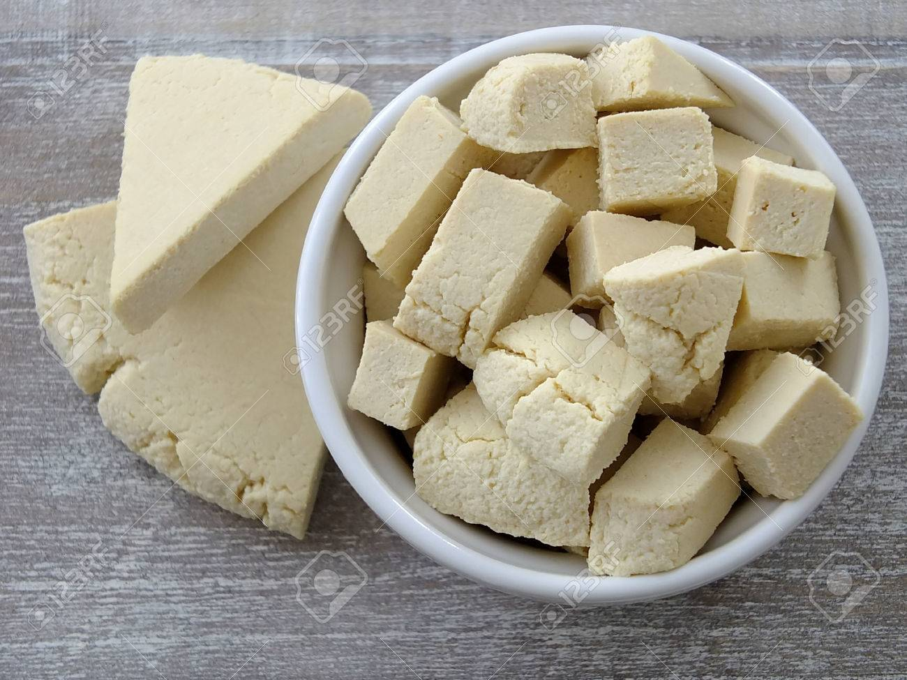 Image of a paneer cheese Standard-Bild - 30659778