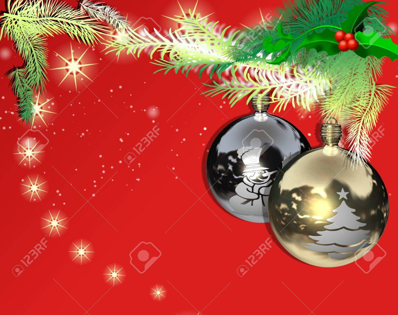 Christmas balls decorated for the Christmas tree, decorated with various colors and details Stock Photo - 11151763