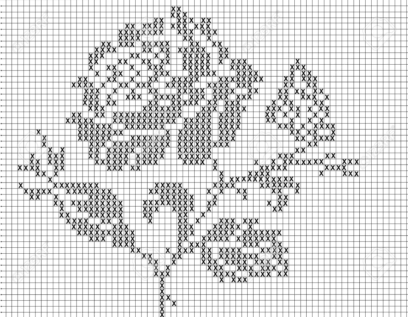 Filet Crochet Pattern For Stock Photo, Picture And Royalty Free ...
