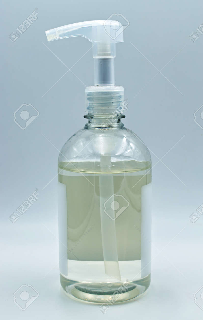 Hand sanitizer spray isolated on white background. Covid-19 disinfection skin care. - 151875791