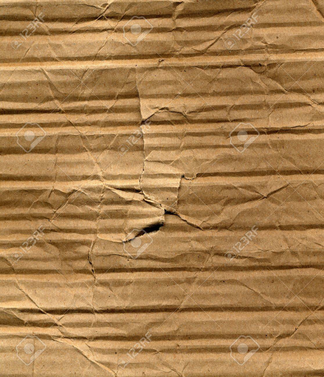 Brown corrugated cardboard sheet background Stock Photo - 3188925