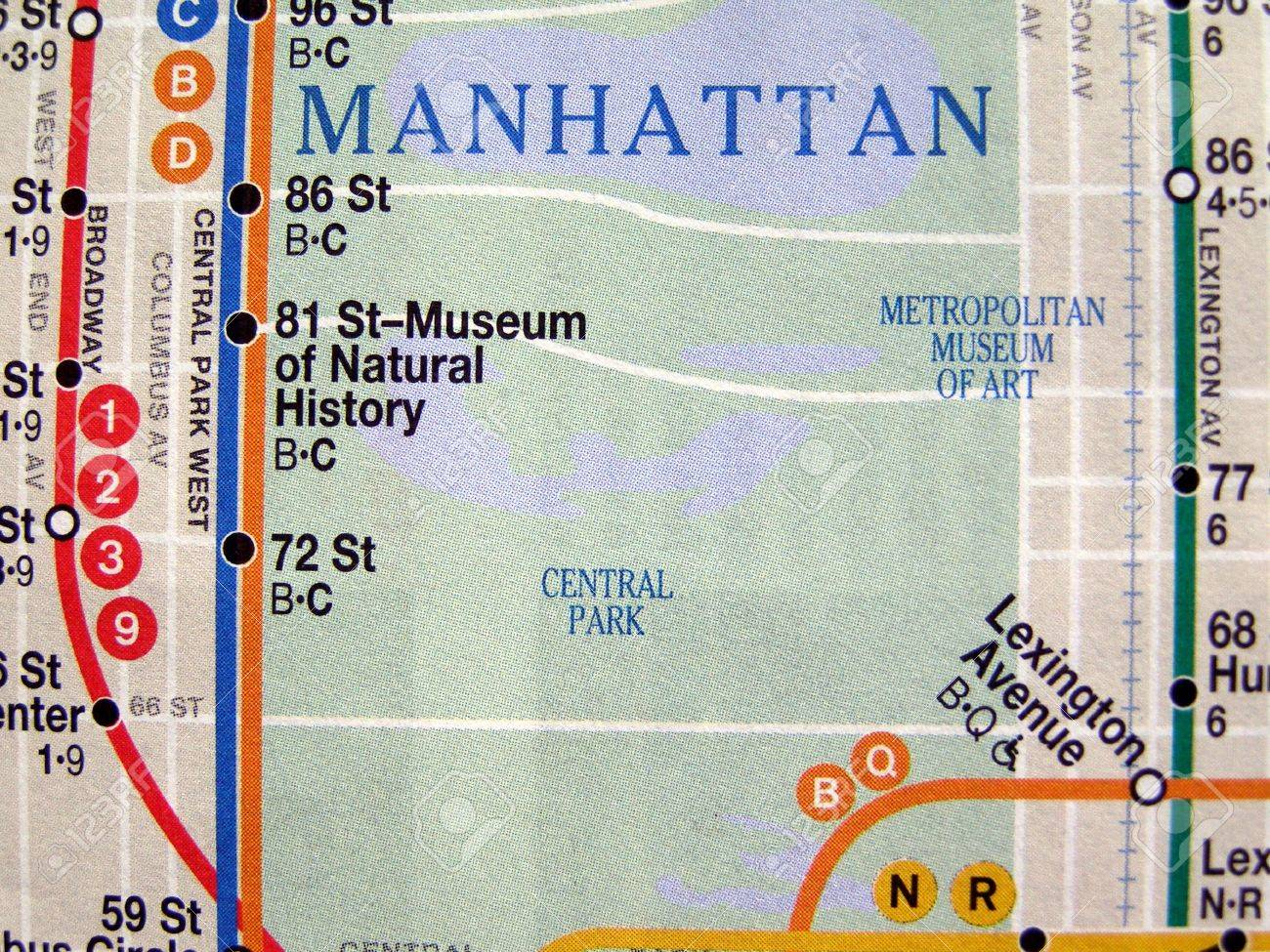 Subway Map Of The New York Underground Metro Tube Network Stock ...