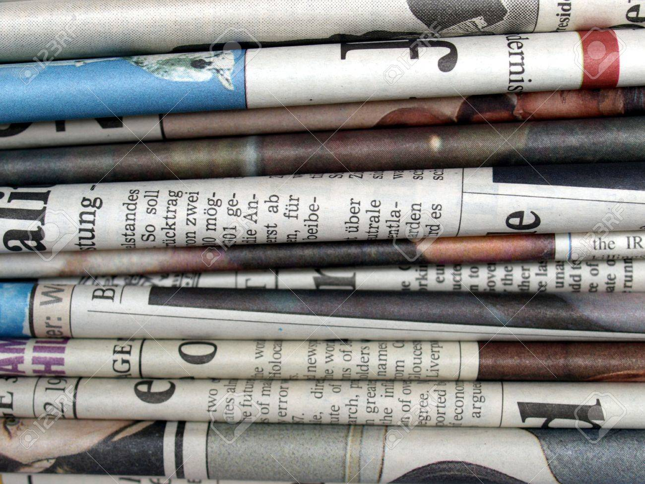 Stack of newspapers Stock Photo - 3580904