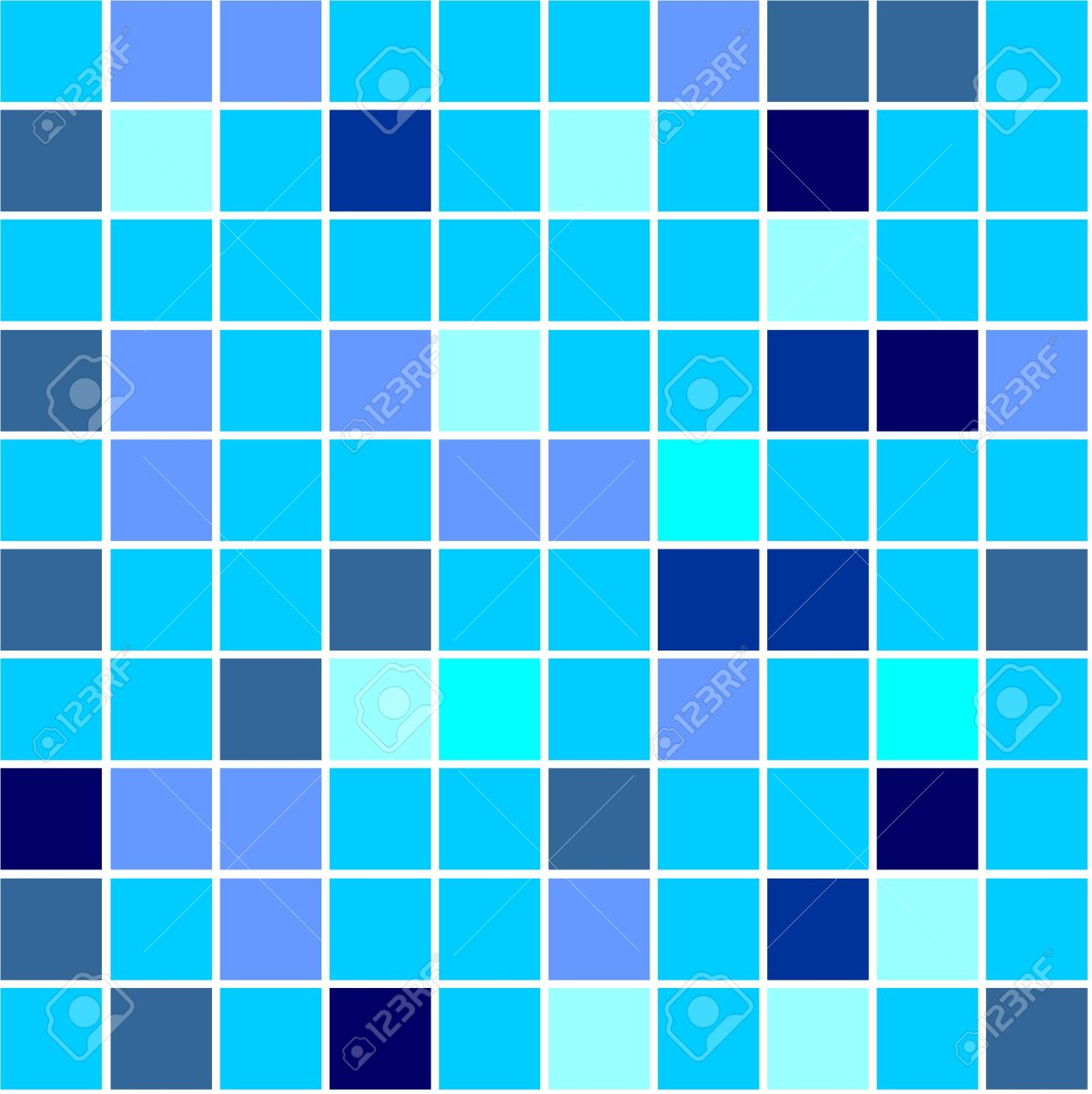Seamless Tiles Background Different Shades Of Blue Colour Stock ...