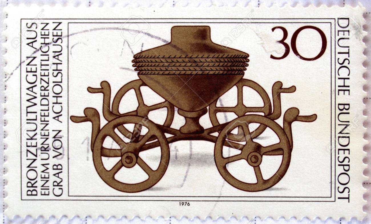 Range of German postage stamps Stock Photo - 4009692