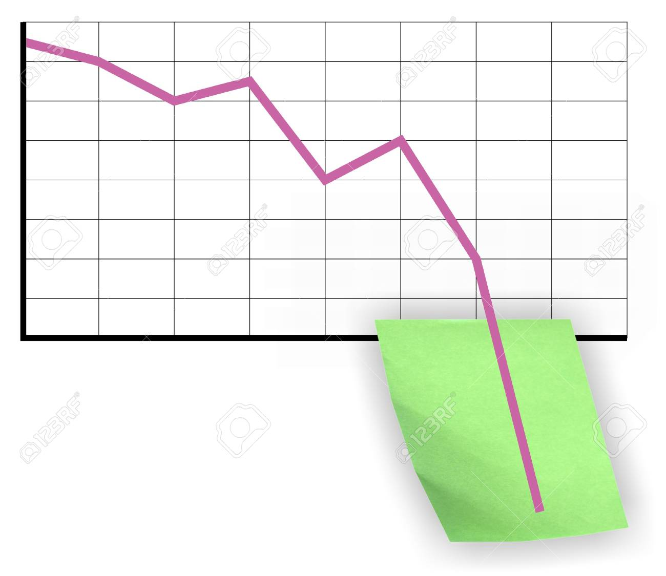 Crisis chart Stock Photo - 4009713
