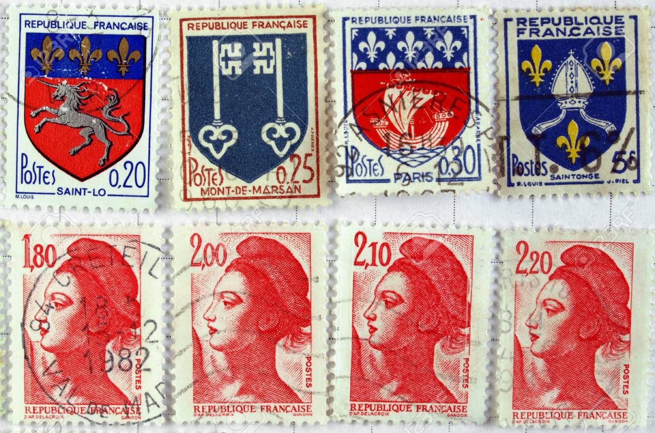 Range of French postage stamps Stock Photo - 4009735