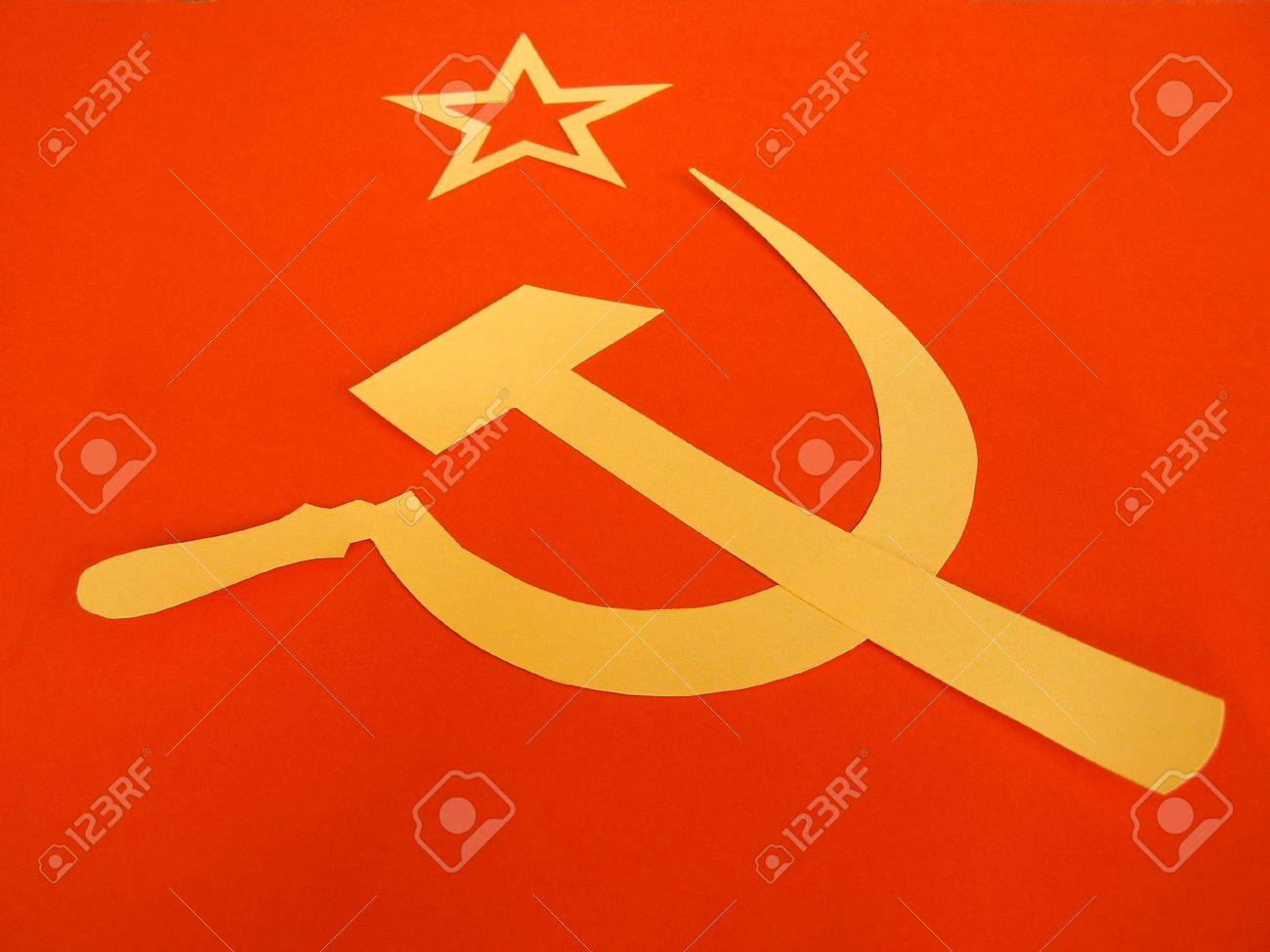 Communist cccp flag with hammer and sickle symbols of communism communist cccp flag with hammer and sickle symbols of communism yellow over red stock biocorpaavc Gallery