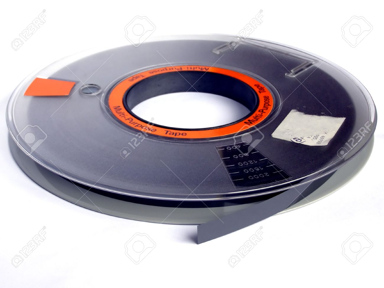 Magnetic tape reel for computer data storage Stock Photo - 4224403