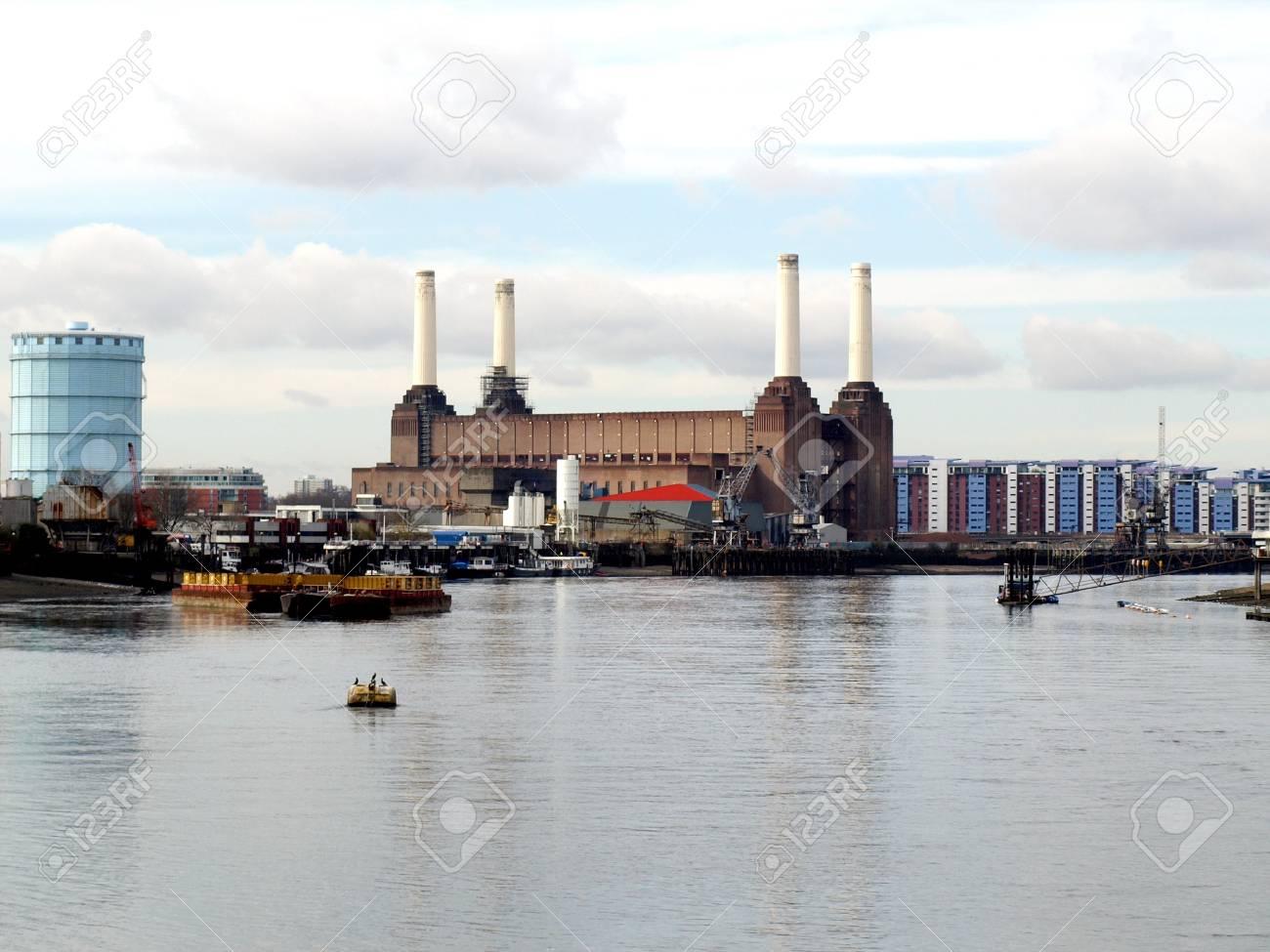 London Battersea powerstation, a landmark abandoned factory Stock Photo - 4535382