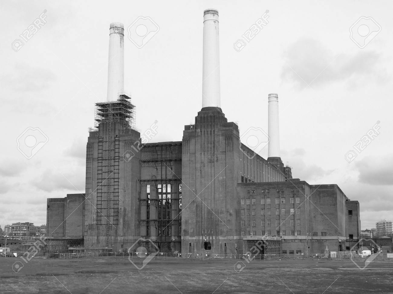 London Battersea powerstation, a landmark abandoned factory Stock Photo - 4651674