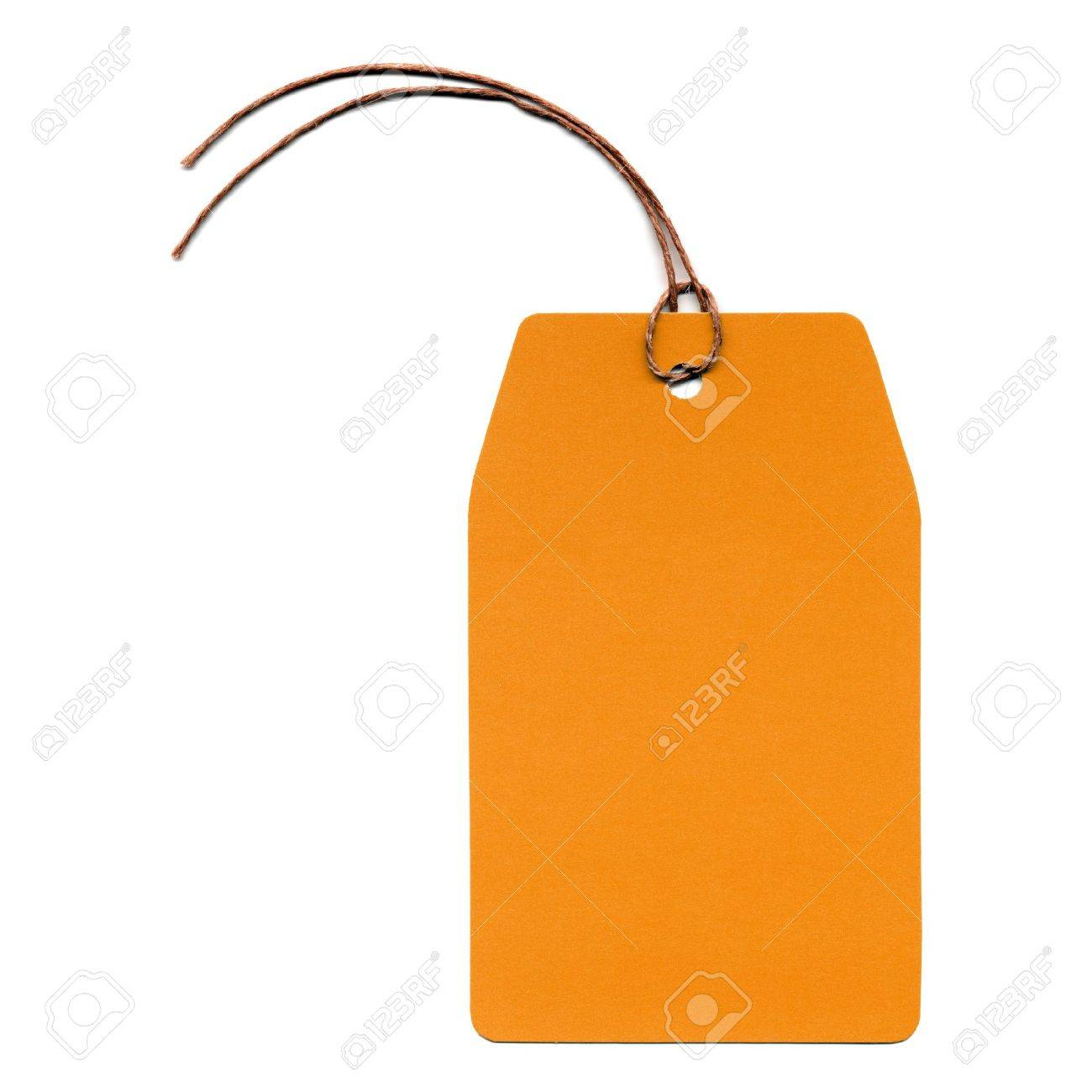 Price tag or address label with string Stock Photo - 4951060