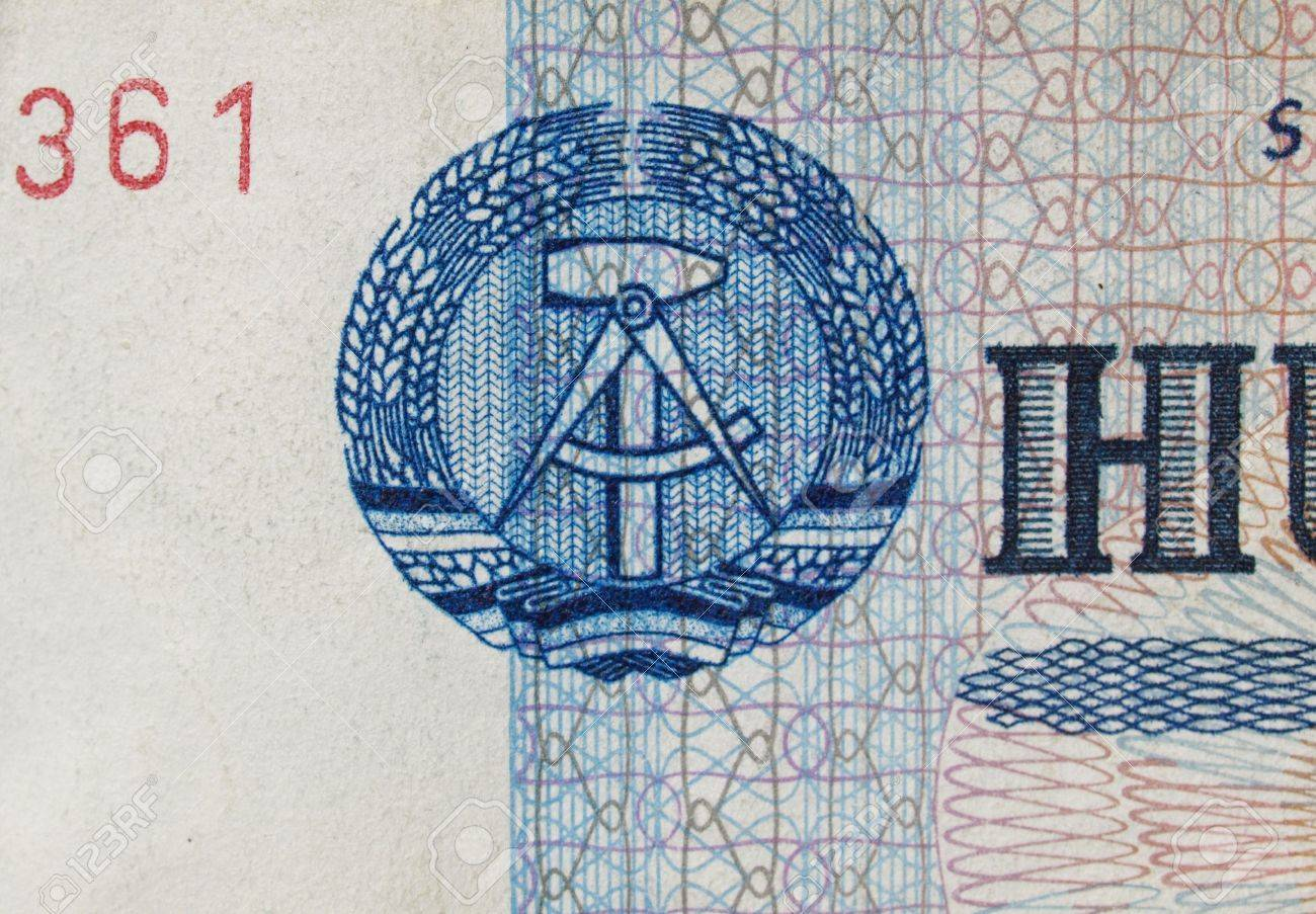 Ddr symbol on a 100 mark banknote from east germany note ddr symbol on a 100 mark banknote from east germany note no more in buycottarizona