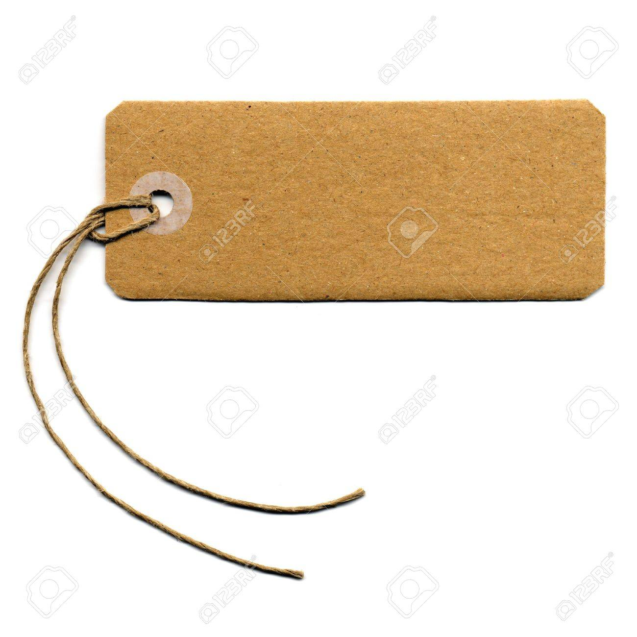 Price Tag Or Address Label With String Stock Photo, Picture And ...
