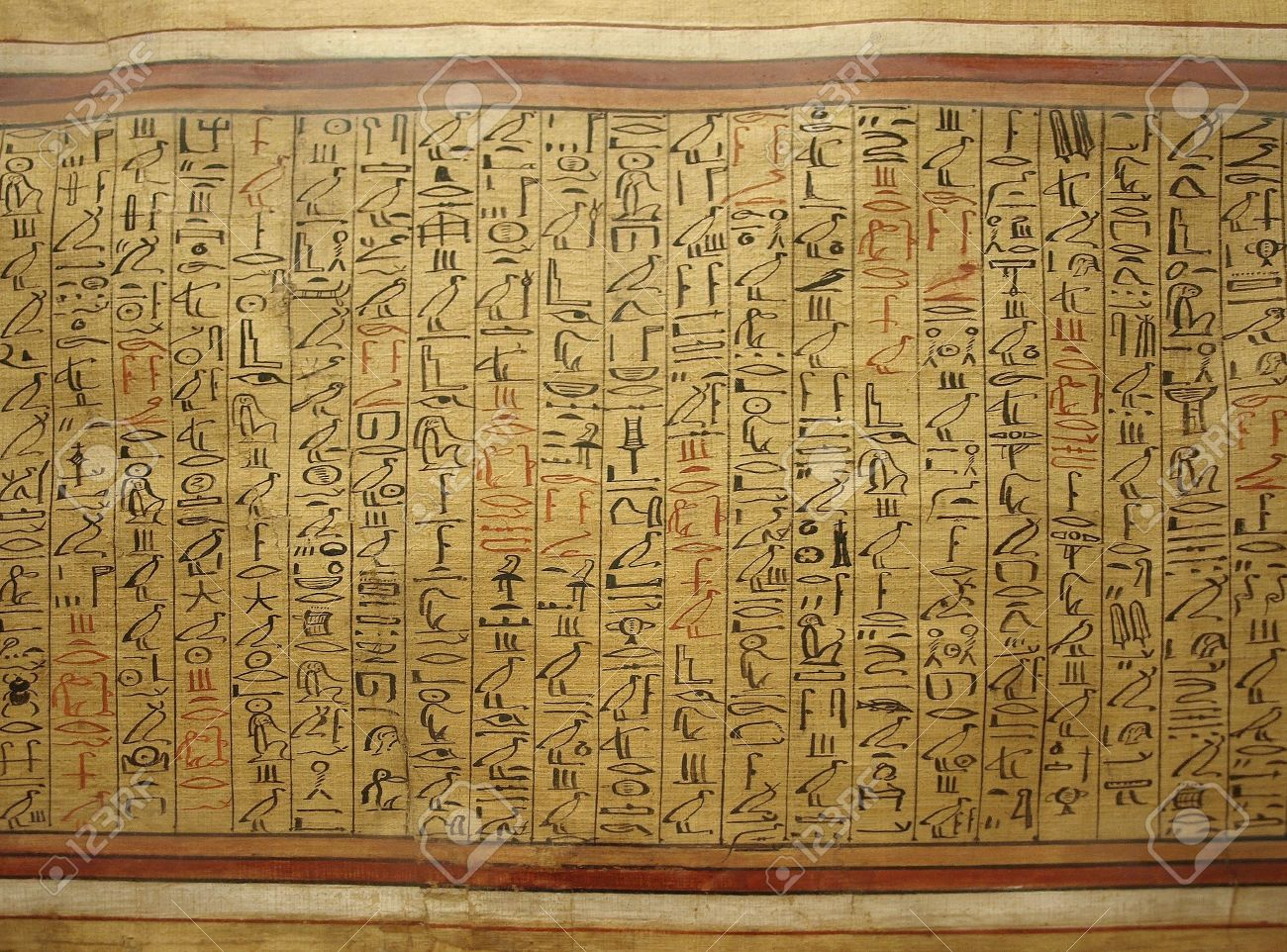 Ancient Egyptian Papyrus Paper Ancient Egyptian hieroglyphs