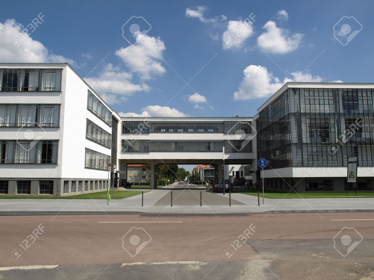 Modern Architecture Germany modern architecture in dessau, germany (south of berlin) stock