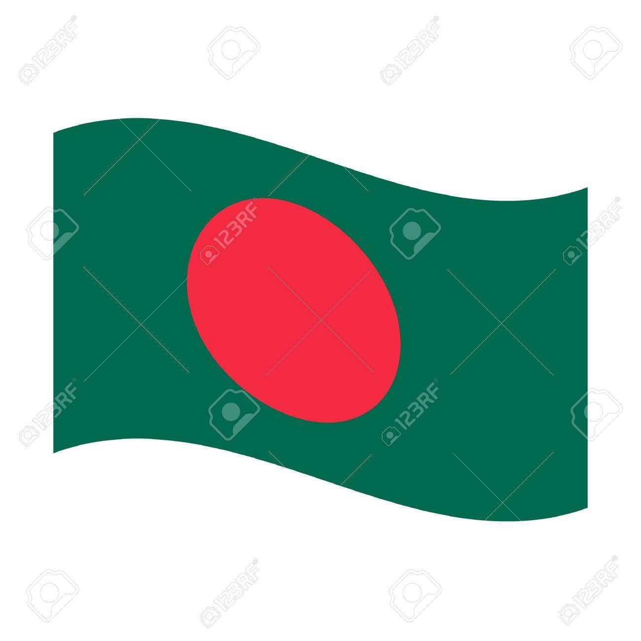 Illustration of the national flag of bangladesh floating Stock Illustration - 6379843