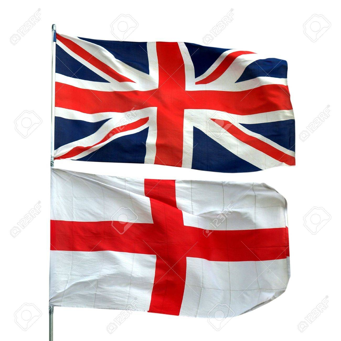 Flags of UK and Englan - isolated over white background Stock Photo - 7000605