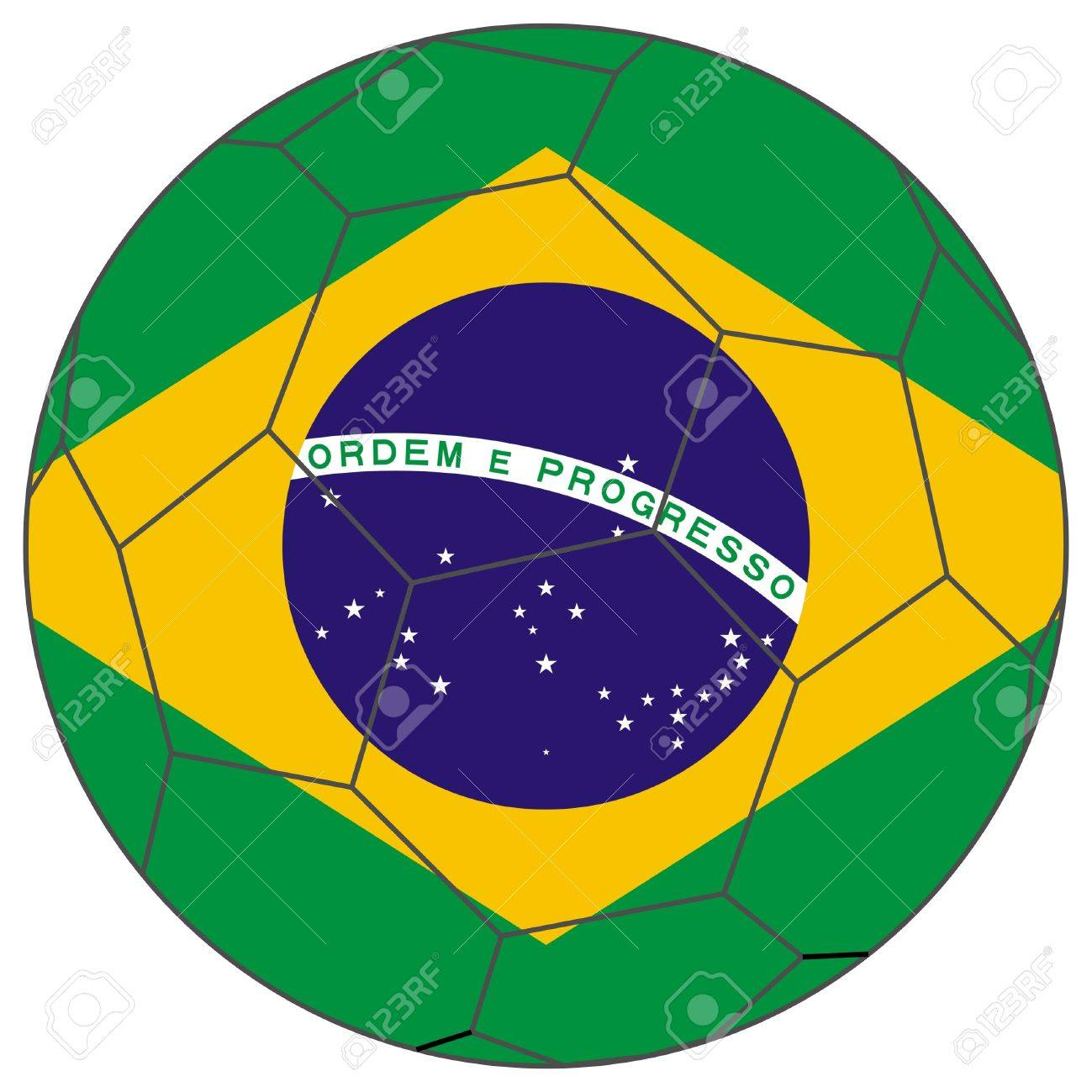 ce6d639cc Flag of Brazil in a world cup football soccer ball Stock Photo - 7236103