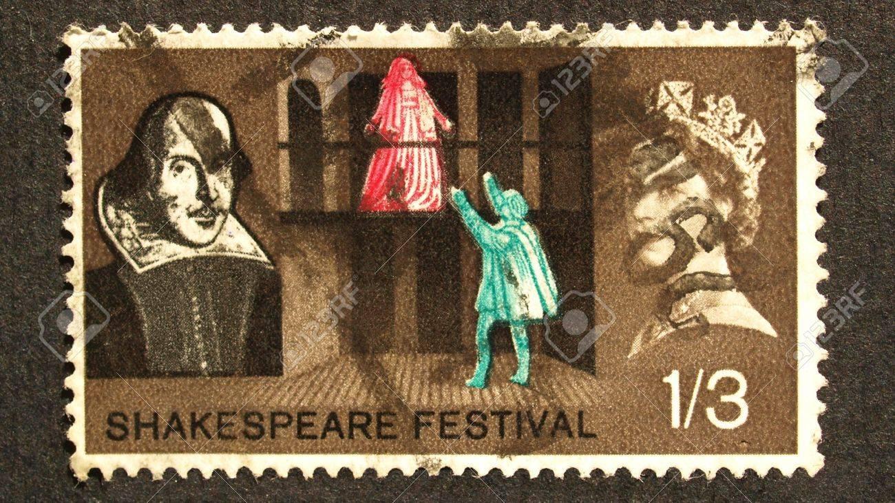 UK 1964 - Shakespeare Festival Stamp, United Kingdom, 1964 Stock Photo - 7291316