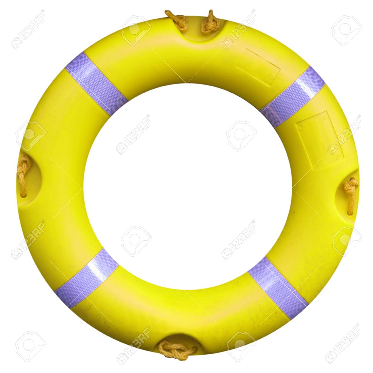 A life buoy for safety at sea - isolated over white background Stock Photo - 7323960