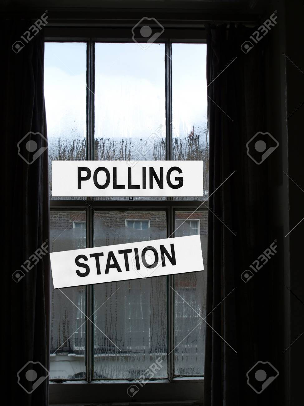 Polling station place for voters to cast ballots in elections Stock Photo - 7324077