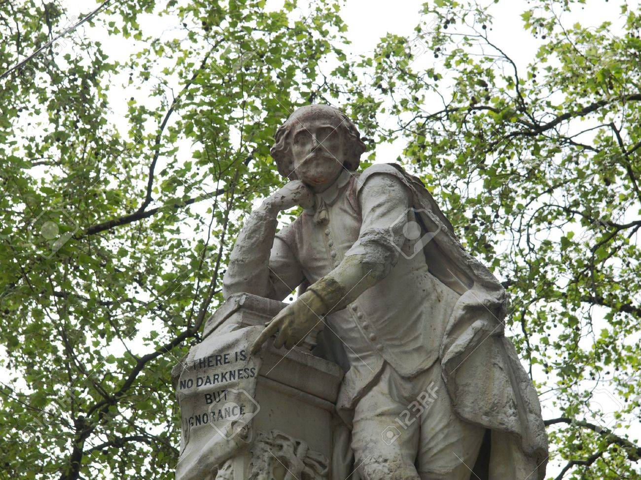 Statue of William Shakespeare (year 1874) in Leicester square, London, UK Stock Photo - 7344062