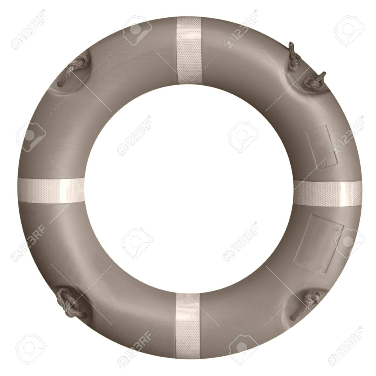 A life buoy for safety at sea - isolated over white background Stock Photo - 7601291