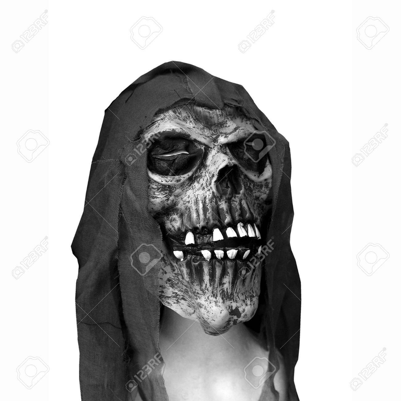 Halloween Skull Representing Mask Of The Death Stock Photo ...
