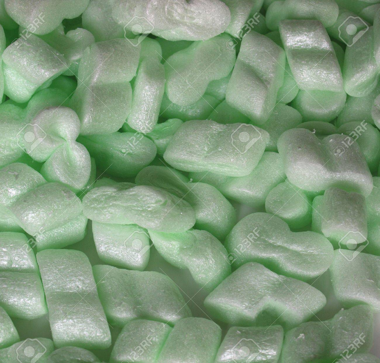 polystyrene beads used for protective package insulation stock photo - Polystyrene Beads