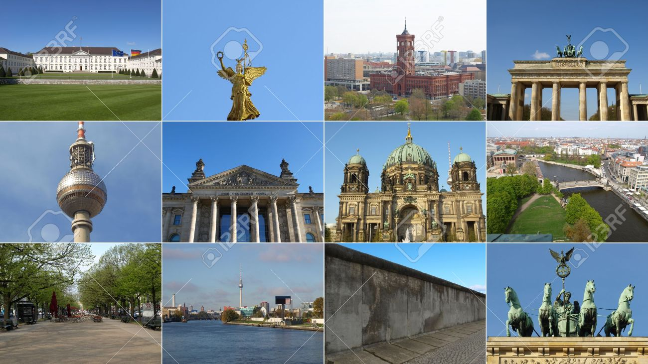 Famous Landmarks And Monuments Collage