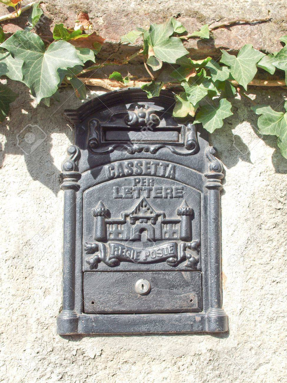Ancient Italian Mail Box With Text Cassetta Delle Lettere Regie Poste Meaning Royal Letter