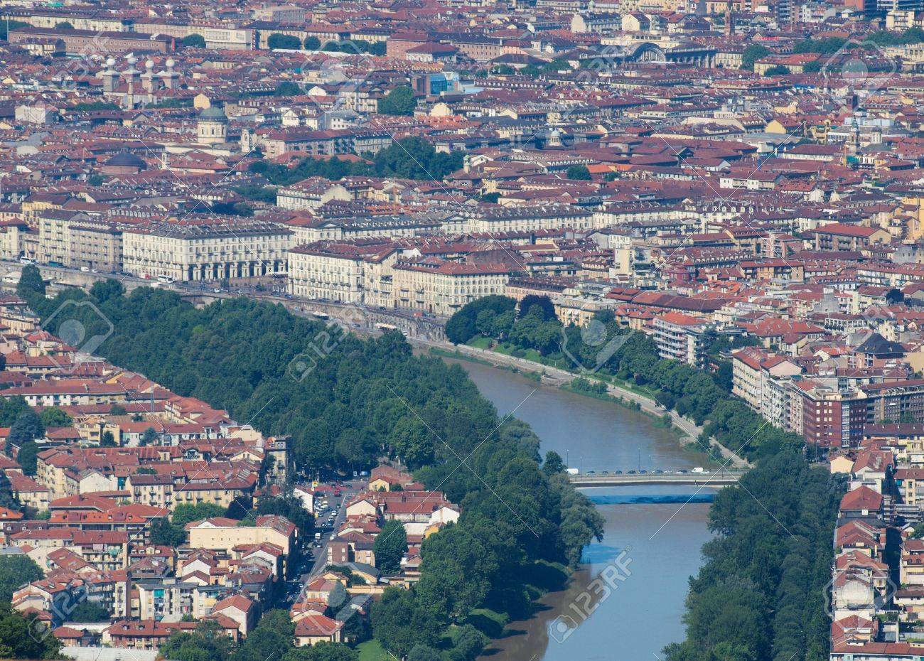 Stock Photo View Of The City Of Turin Torino From The Hill