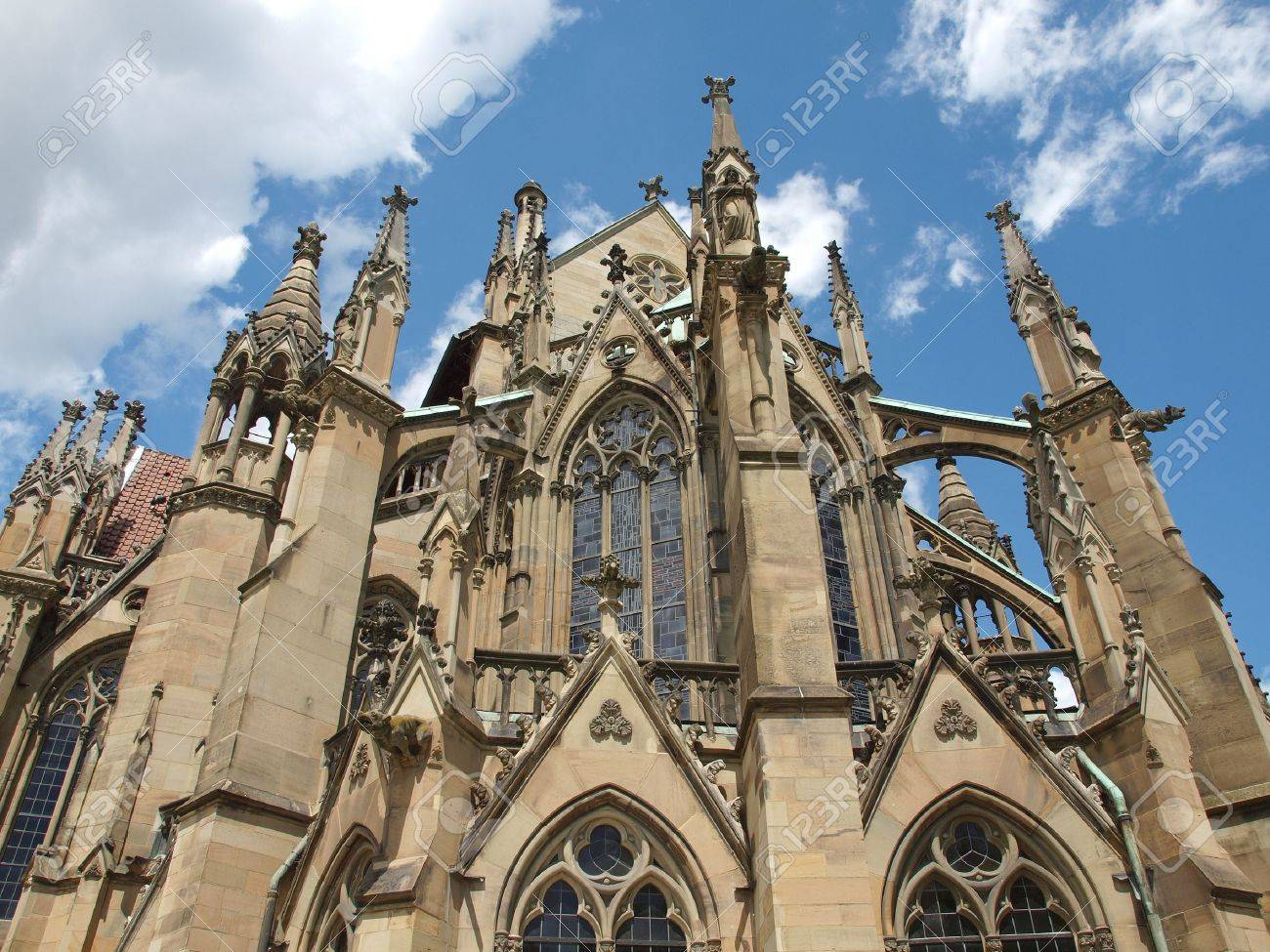 The Johanneskirche gothic church in Stuttgart, Germany Stock Photo - 14510793