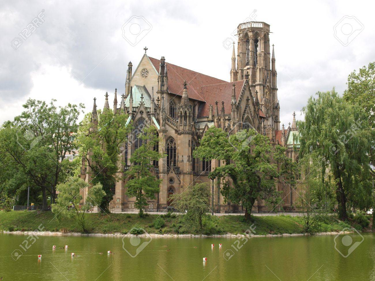 The Johanneskirche gothic church in Stuttgart, Germany Stock Photo - 14553248