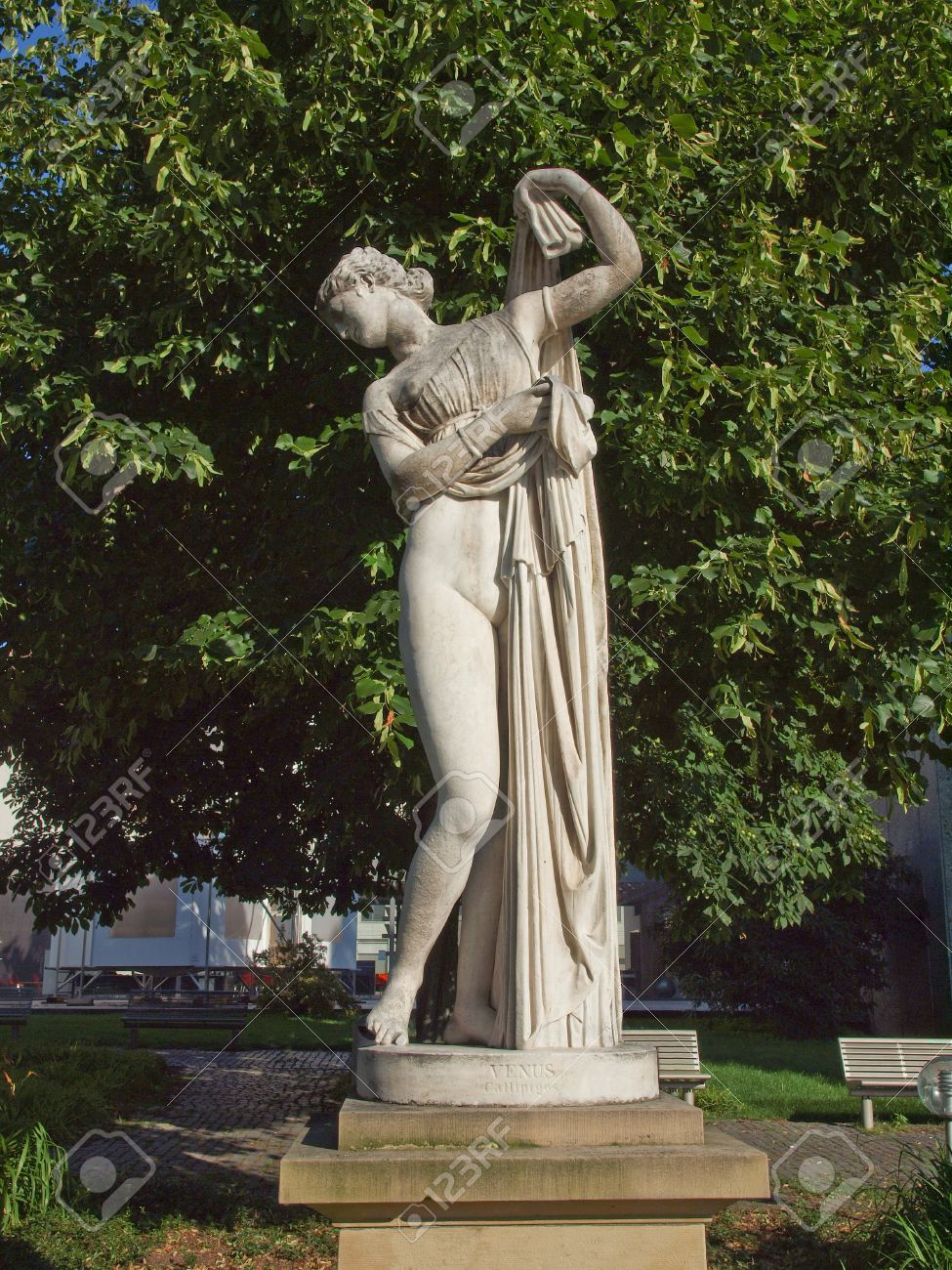 Ancient statue of Venus Aphrodite in the Oberer Schlossgarten park in Stuttgart, Germany Stock Photo - 14553390