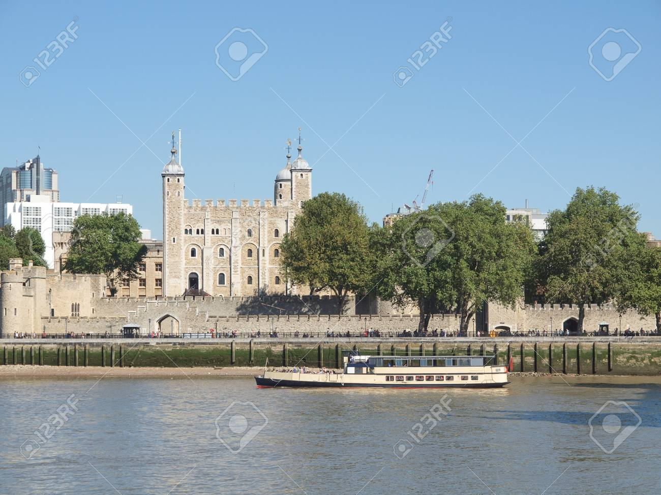 The Tower of London medieval castle and prison Stock Photo - 15792640