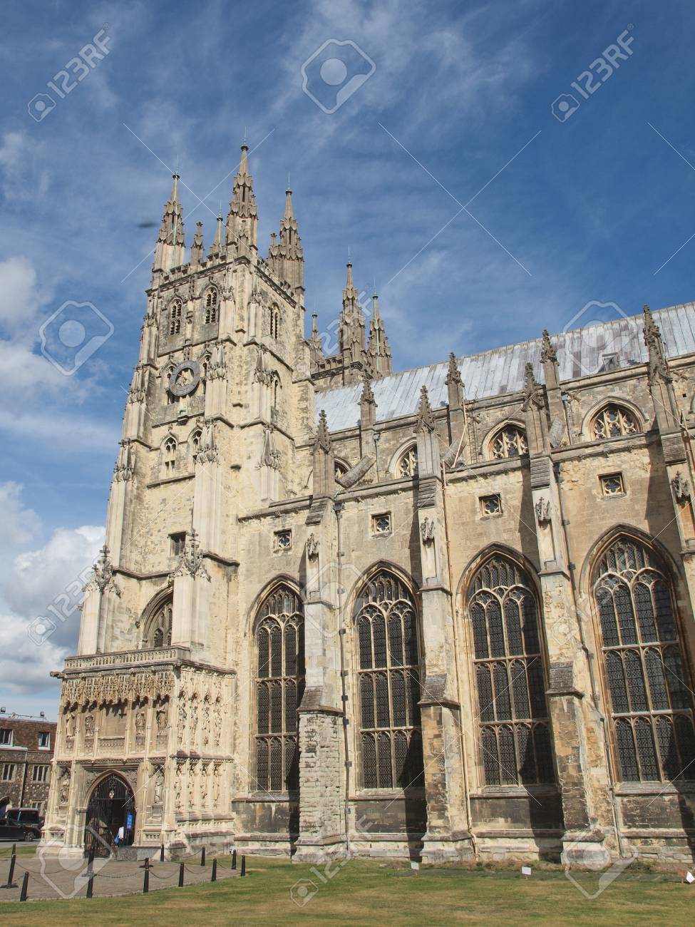 The Canterbury Cathedral in Kent England UK Stock Photo - 17292176