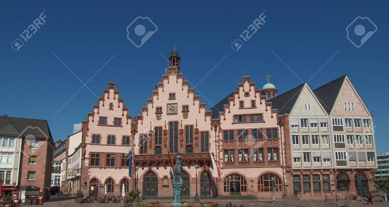 Roemerberg old city in Frankfurt am Main Germany Stock Photo - 21067231