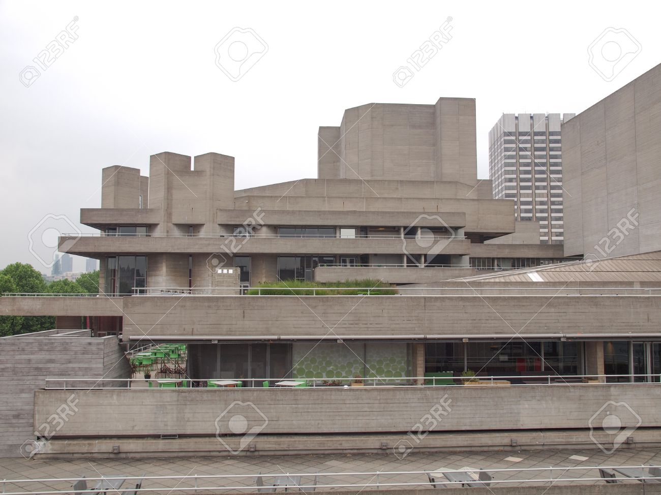 the national theatre iconic new brutalist architecture in london