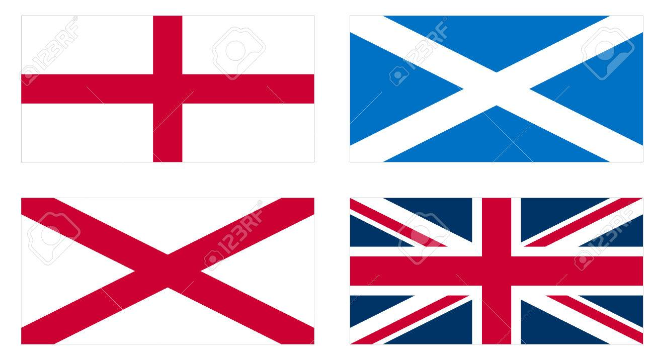 making of the union jack flag of the uk from the national flags