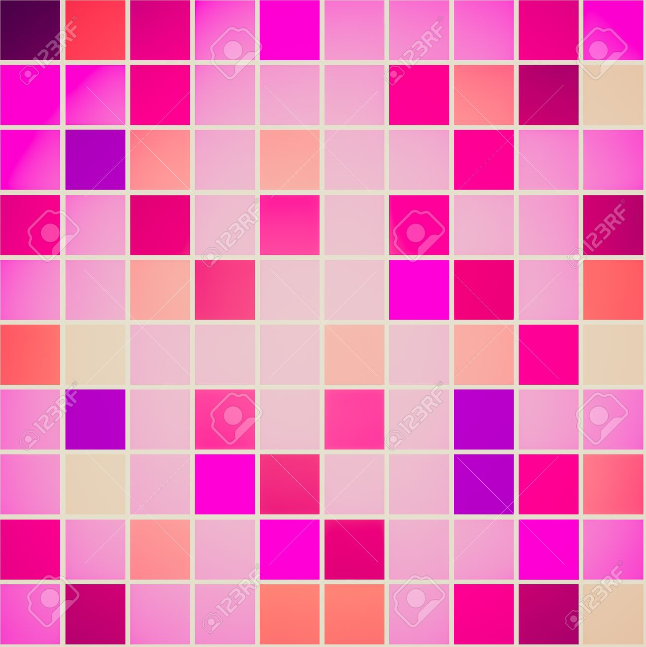 retro looking seamless tiles different shades of pink violet
