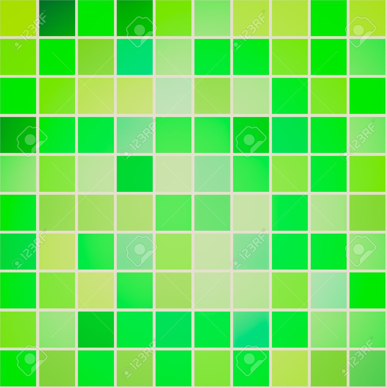 retro looking seamless tiles different shades of green color stock