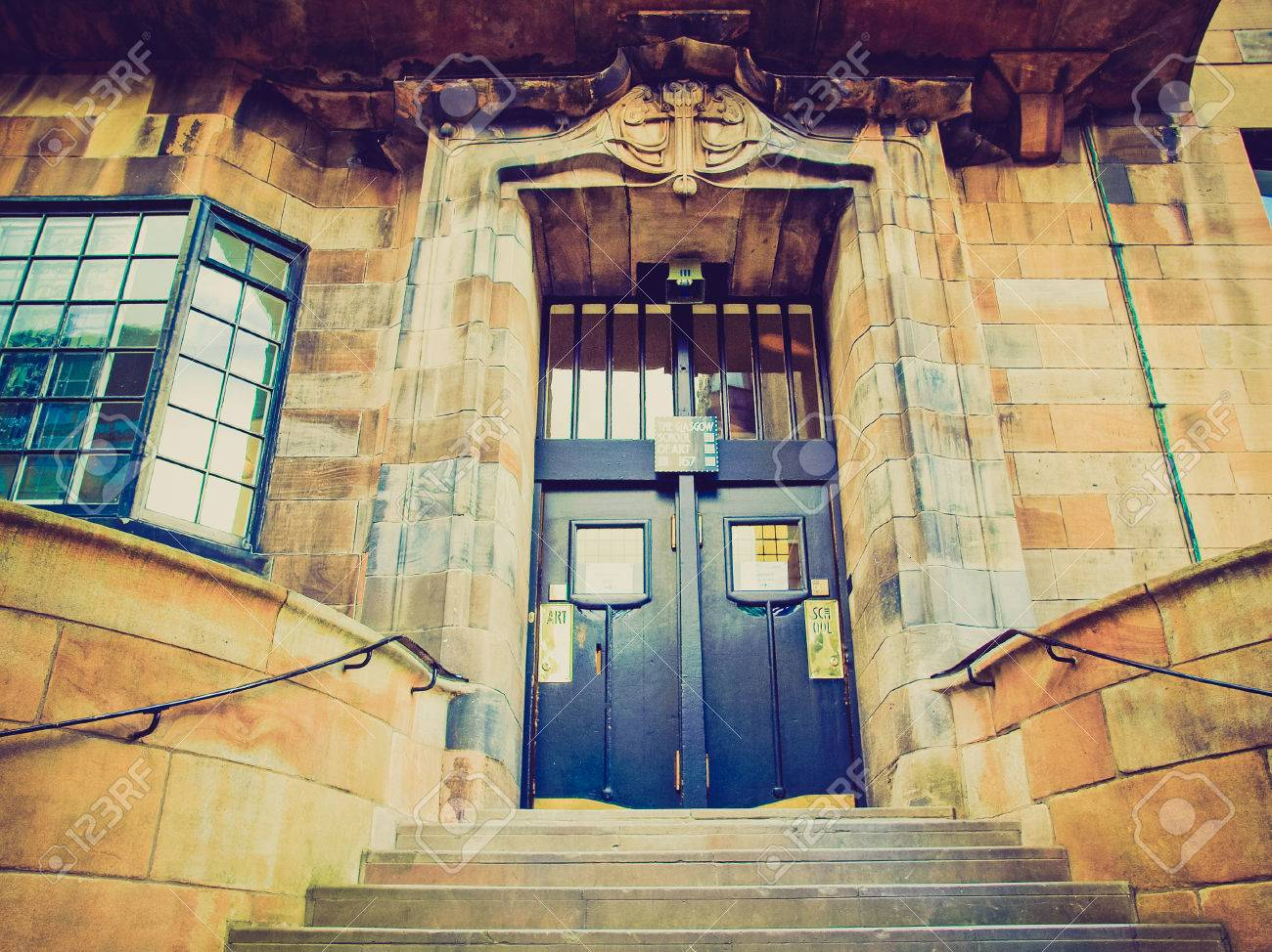 Vintage Looking The Glasgow School Of Art Designed In 1896 By ...