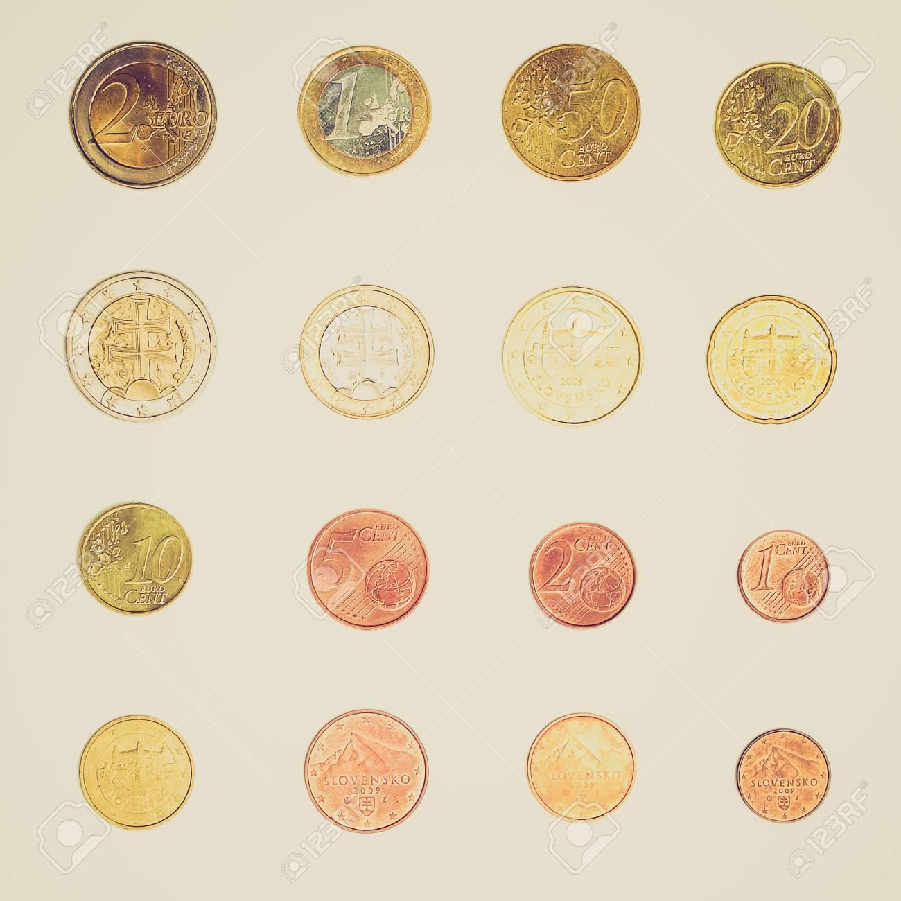 Weinlese Die Euro Münzen Einschließlich Sowohl Der Internationalen
