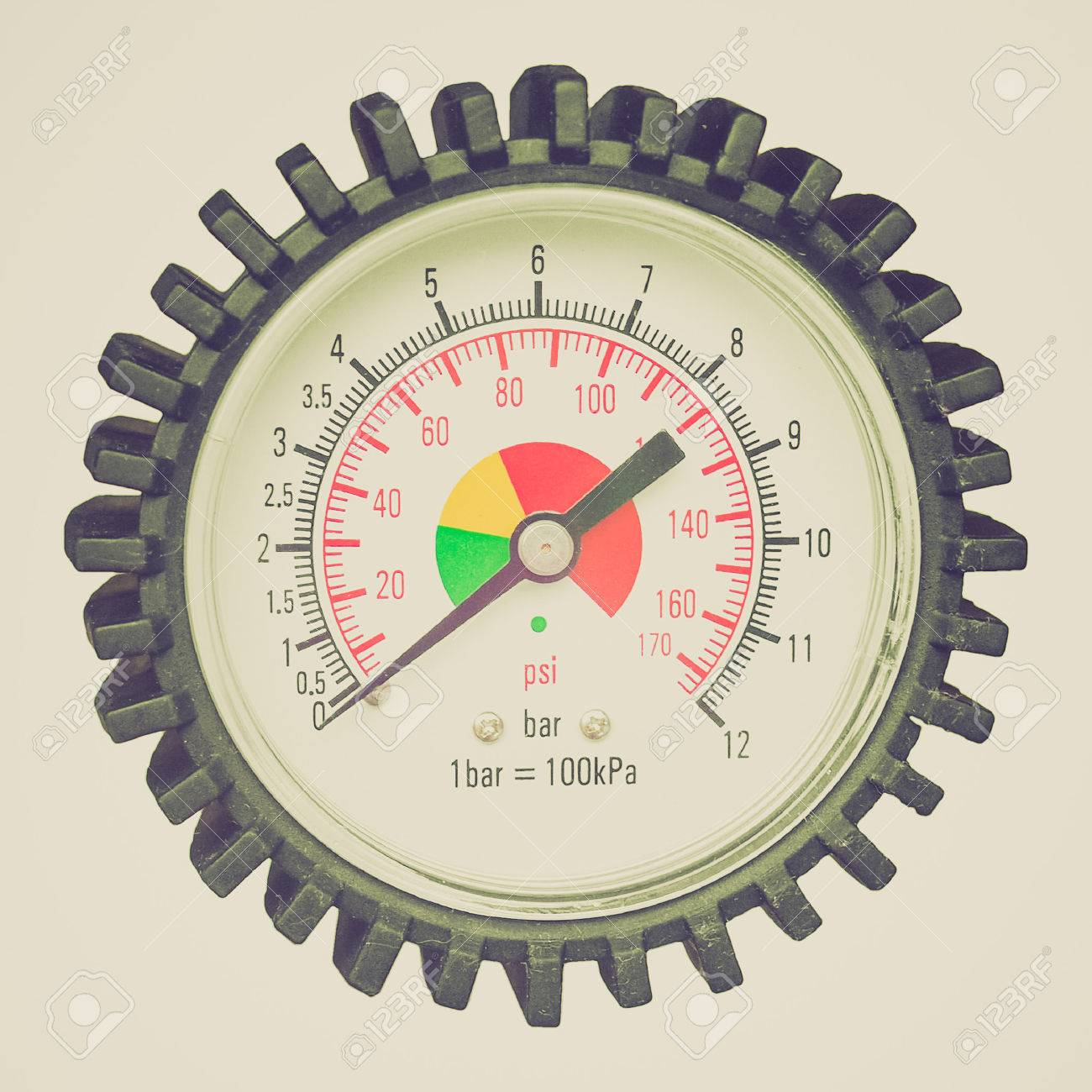 Vintage Looking Manometer Instrument For The Measurement Of Pressure And Vacuum