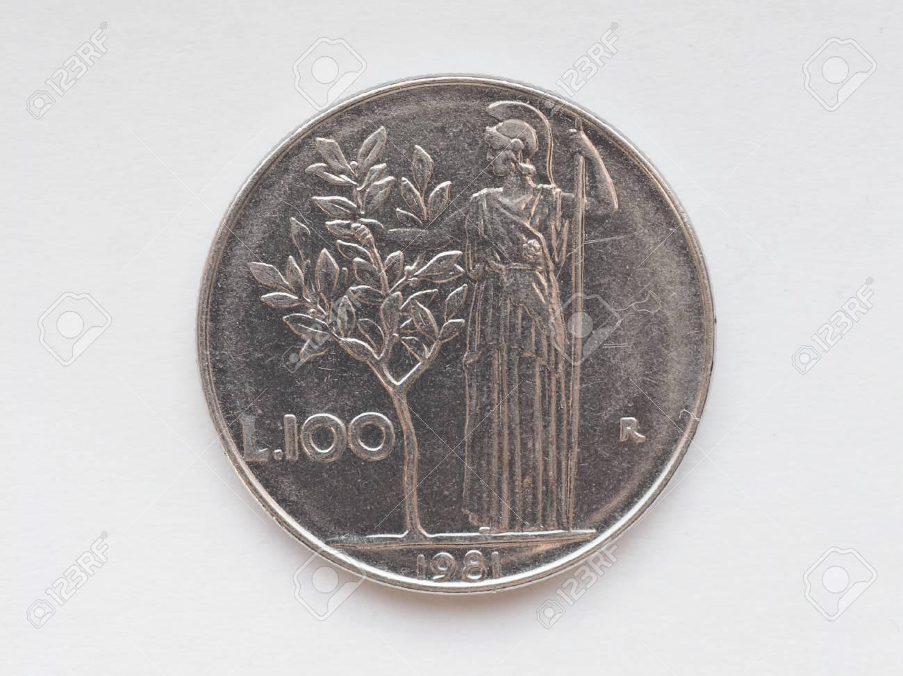 Alte Italienische Lire Münzen Nun Zurückgezogen Und Durch Euro
