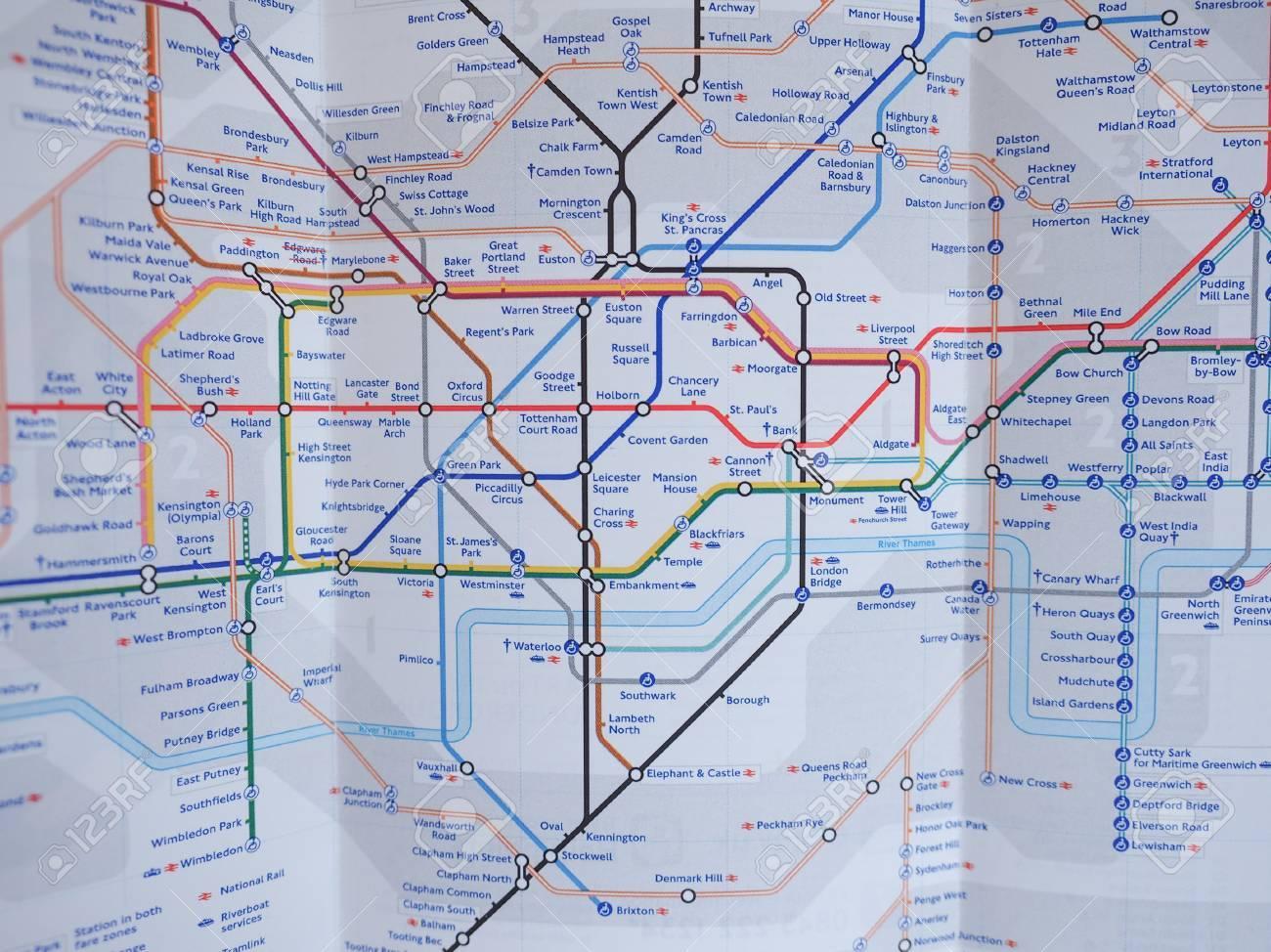 london uk january 10 2015 tube map of the london underground subway