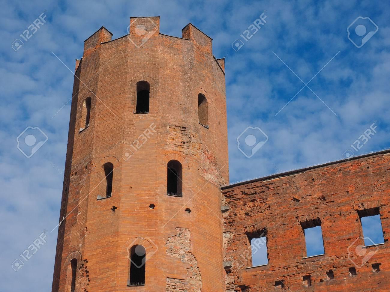 Palatin Turin Antik Roma Kenti Kapılarının Porte Palatine ...