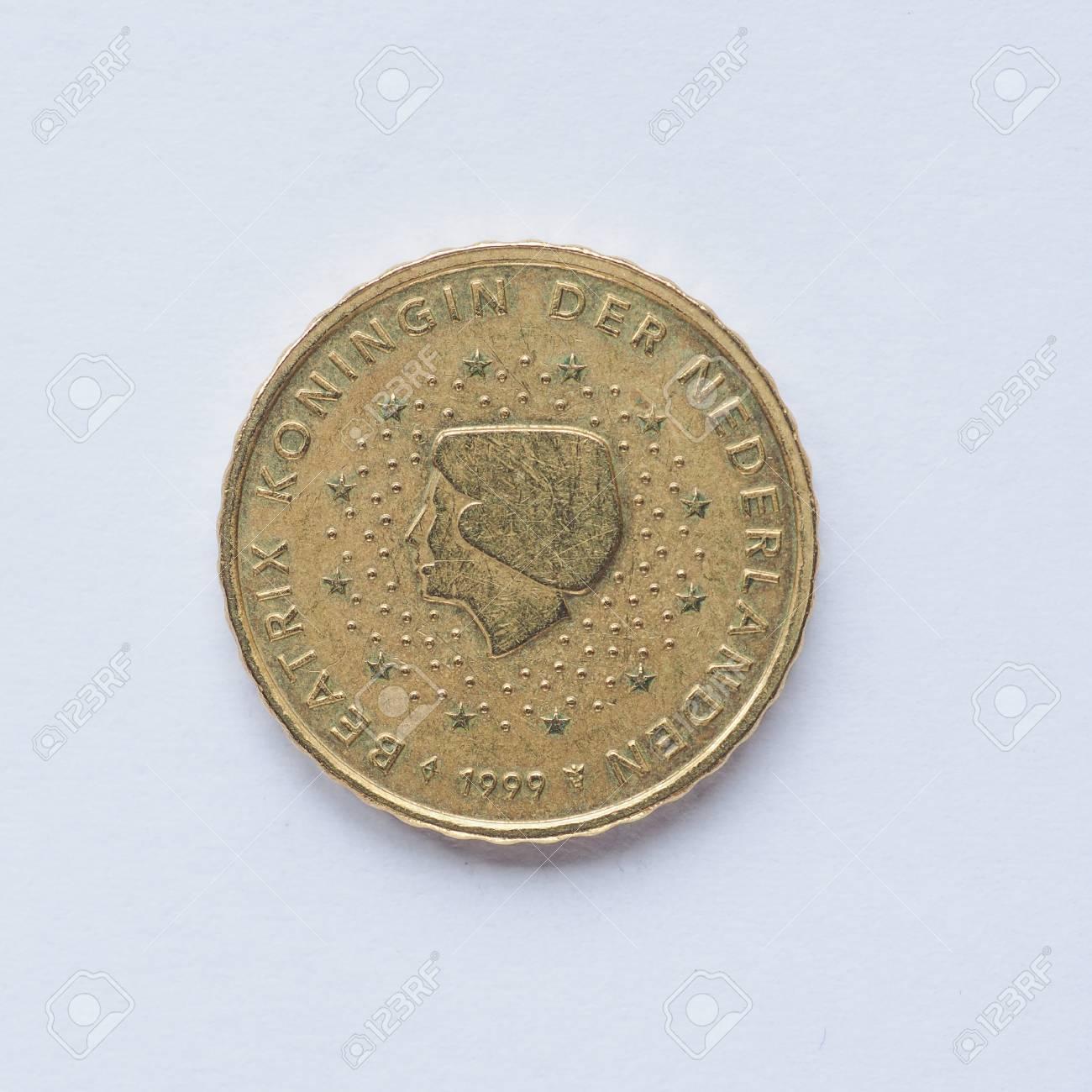 Währung Europa 10 Cent Münze Aus Niederlande Lizenzfreie Fotos